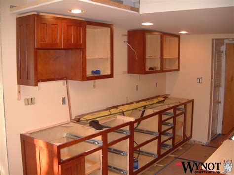 how do i install kitchen cabinets kitchen bathroom cabinet installation wynot construction