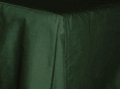 green bed skirt 3 4 three quarter dark forest green tailored dustruffle