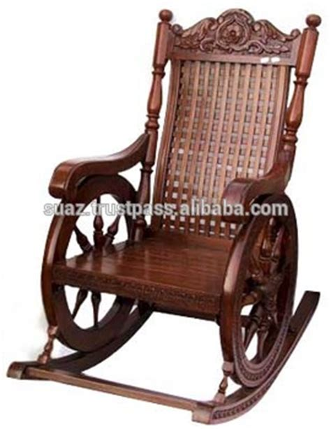 Wooden rocking chairs carving swing chair antique wood carved rocking chair traditional luxury