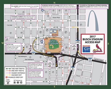 parking map busch stadium parking guide tips maps deals spg