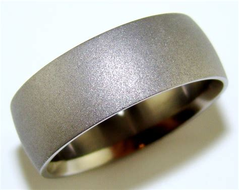 sandblasted titanium ring the jewelers guild