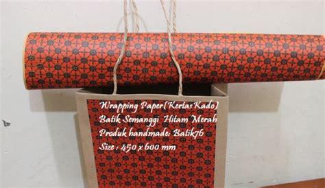 Bungkus Kertas Kado Tambahan wrapping paper kertas kado motif batik semanggi hitam