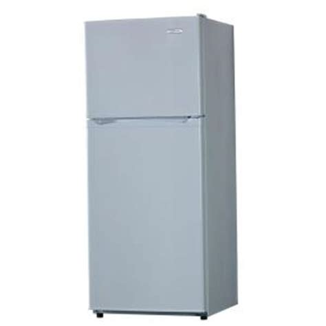 vissani 24 in w 10 cu ft top freezer refrigerator in