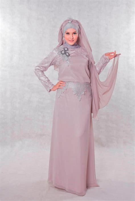 baju kebaya pesta muslimah dress baju pesta muslimah grey yang elegan