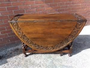 Antique Drop Leaf Kitchen Table Antique Carved Oak Barley Twist Drop Leaf Dining Table Kitchen Table 217502 Sellingantiques