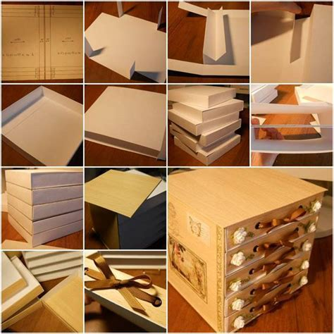 diy 5 drawer cardboard organizer