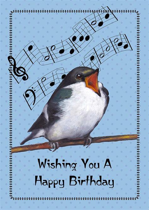 happy birthday bird images singing bird birthday card pastel by joyce geleynse