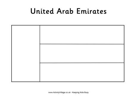coloring pages uae flag united arab emirates flag colouring page