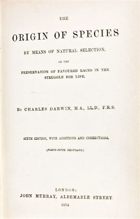 on the origin of species the preservation of favoured races in the struggle for charles darwin books the origin of species by means of selection or