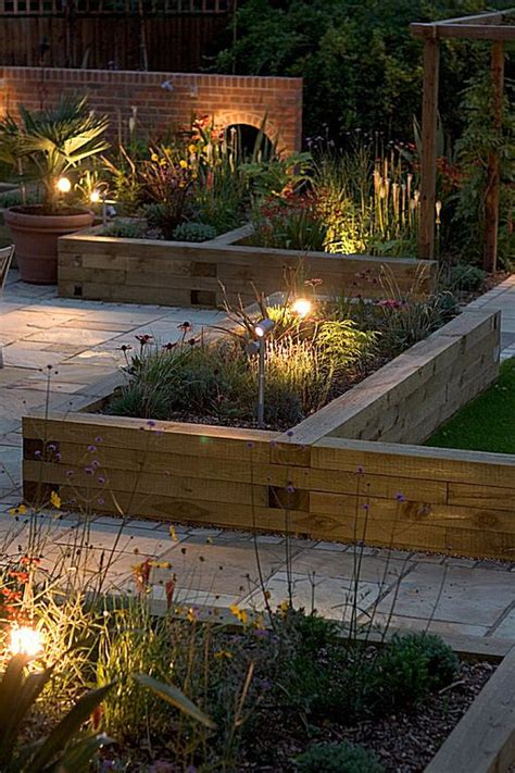 flower bed lights best 25 garden seating areas ideas on pinterest