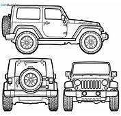 CAR Blueprints  Jeep Wrangler Rubicon Vector