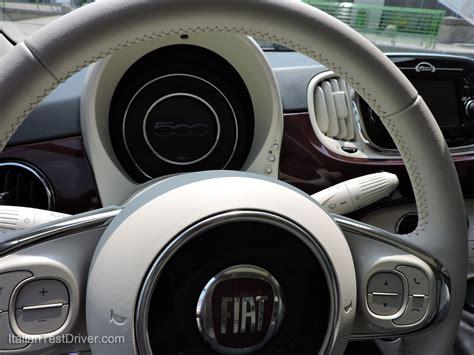 volante nuova fiat 500 test drive nuova fiat 500 restyling 0 9 twinair 85 cv
