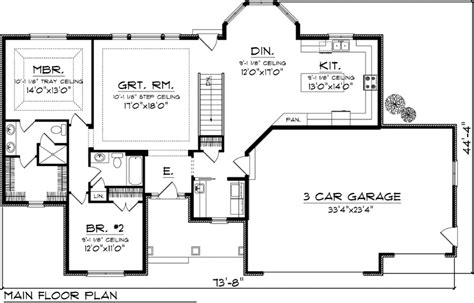 reverse ranch house plans house plan 73148 at familyhomeplans com