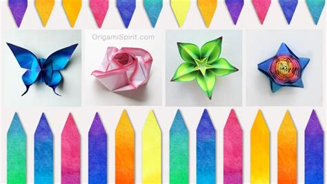 Colored Paper Crafts - how to color paper for origami and other paper crafts
