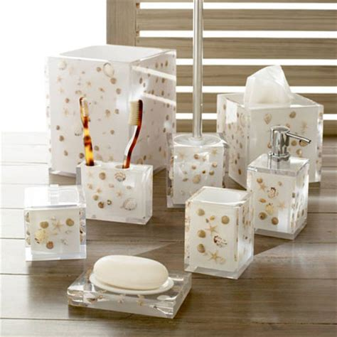 seashell bathroom accessories deko seashells bath accessories by kassatex gracious style