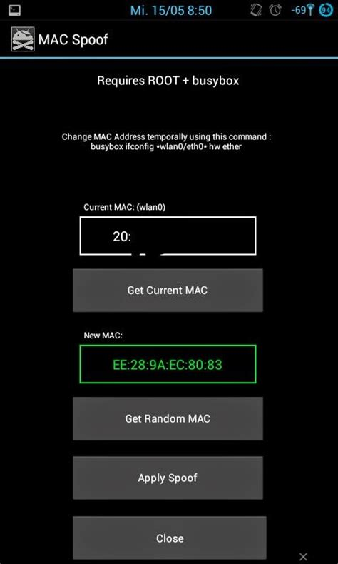 change mac address android born to hack change spoof mac address of your android phone