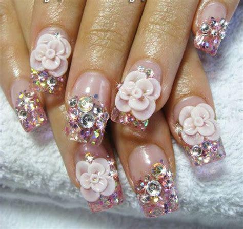 3d Wedding Nails W Rhinestone Kuku Palsu Nail Wd0002a 1000 images about nail on nail designs coffin nails and luminous nails