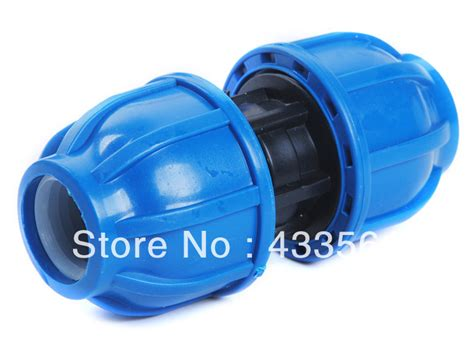 Coupler 20 Pp quality pp compression coupler fittings with cap
