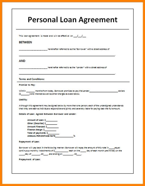 28 blank loan agreement template loan agreement