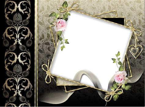transparent black gold png photo frame gallery yopriceville high quality images and