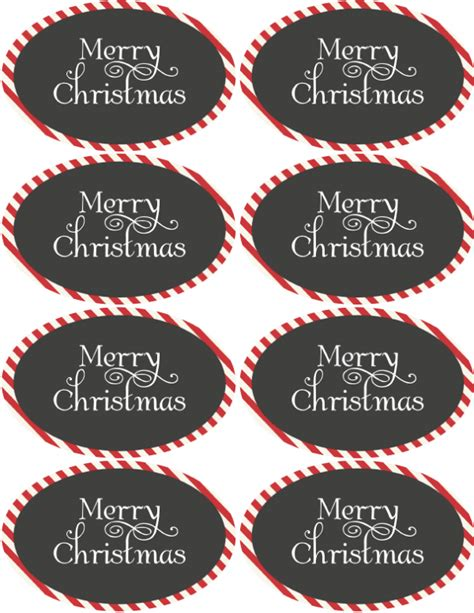 christmas holiday assorted circle  oval labels  printable labels templates label