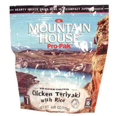 mountain house pro pak mountain house pro pak chicken teriyaki
