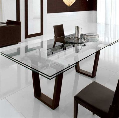 contemporary glass dining room tables kasala modern bold glass extension dining table