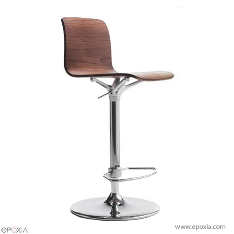 Tabouret De Bar by Tabouret De Bar En Bois R 233 Glable En Hauteur Bebo Epoxia