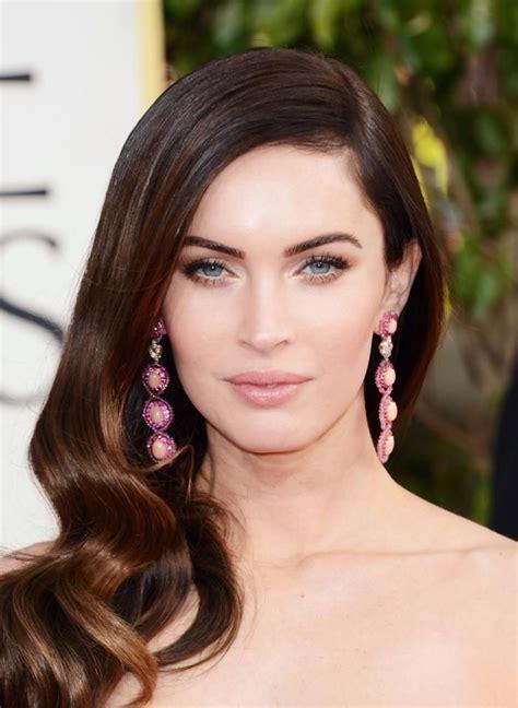 pink earrings celebrity golden globe celebrity fashion 2013 megan fox earrings