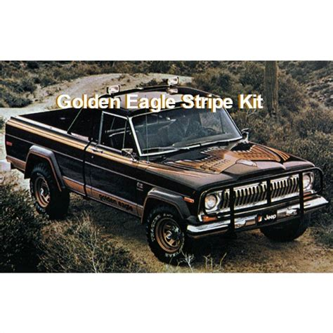 jeep golden eagle decal 7779gej10 1977 1979 jeep golden eagle j10 truck gold