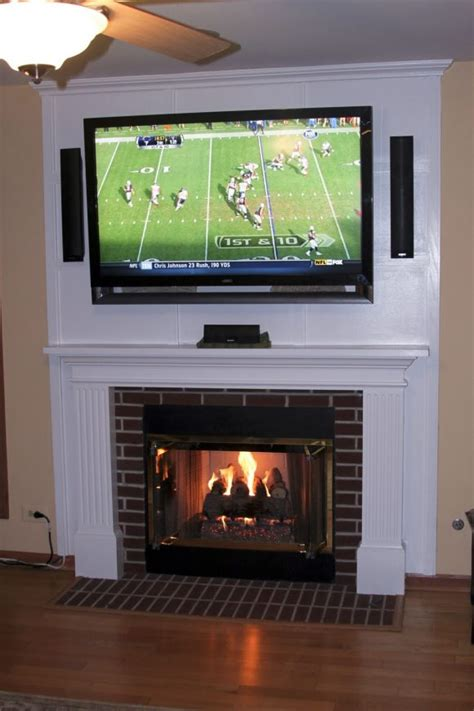furniture fascinating mounting tv above fireplace bring