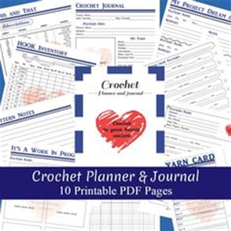 printable knitting journal printable crochet binder set crochet journal by