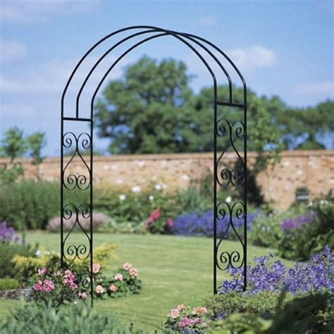 Metal Garden Arch Uk Burbage York Scroll Large Arch Garden