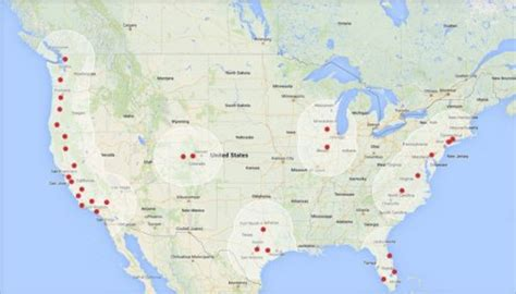 Tesla Supercharging Stations Map Tesla Expands Its Supercharger Ev Highway Through The