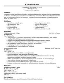 Resume Sles Adults Unforgettable Lead Educator Resume Exles To Stand Out