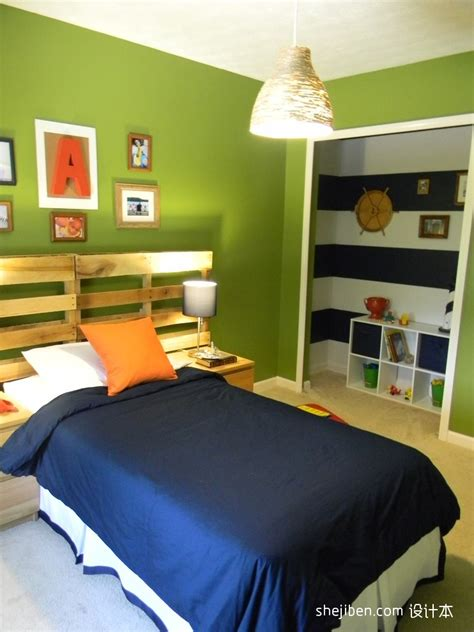 lime green and white themed kids room paint ideas with 现代男孩儿童房装修效果图 土巴兔装修效果图