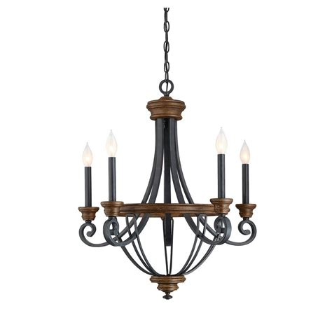 wood chandelier filament design 5 light whiskey wood chandelier ect