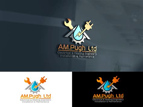professional bold engineering logo design  ampugh  electrical mechanical air
