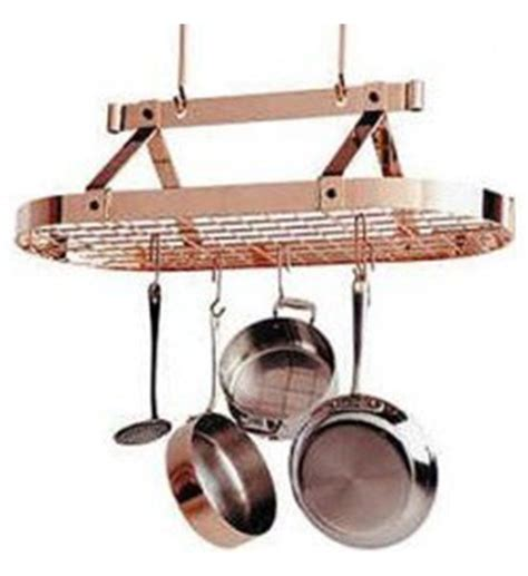 Copper Pot Rack by Ceiling Oval Pot Rack Copper