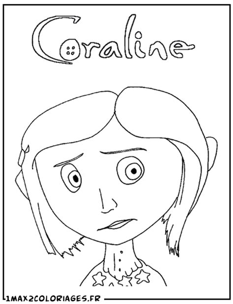 free coloring pages of drawing for the coraline