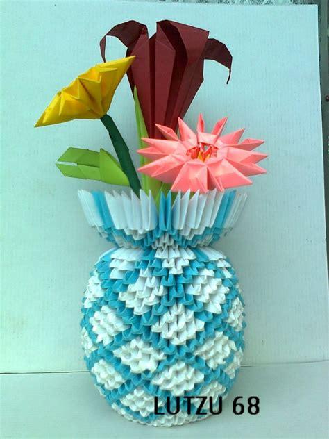 3d Origami Vases - origami vase album lutzu 3d origami