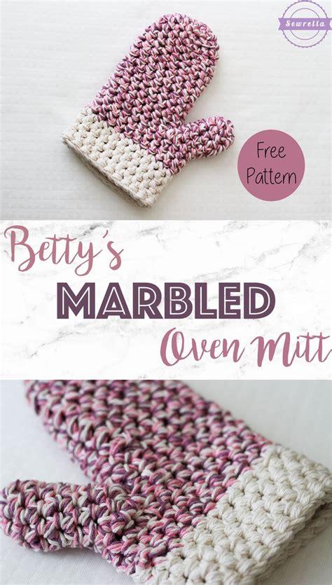 free pattern oven mitt betty s marbled oven mitt free crochet pattern from