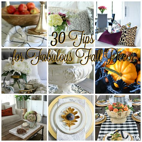 fall home decor ideas 30 beautiful homes a stroll thru 30 tips for fabulous fall decor decor gold designs