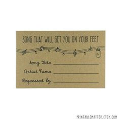 Wedding Song Request Form by Song Request Wedding Song Request Dj Guests Reception
