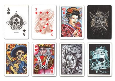deck of cards tattoo answer spread using bicycle club cards