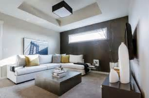 modern family room mh small detailed modern family room calgary by
