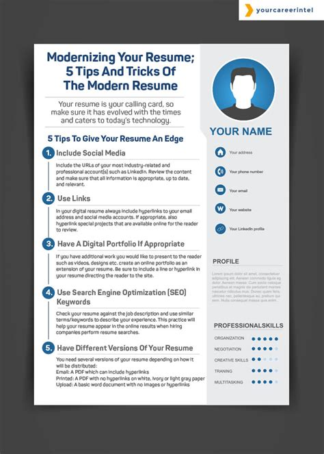 Resume Tips And Tricks modernizing your resume 5 tips and tricks of the modern