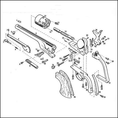 revolver parts diagram pietta 1860 army revolver 1861 navy revolver parts