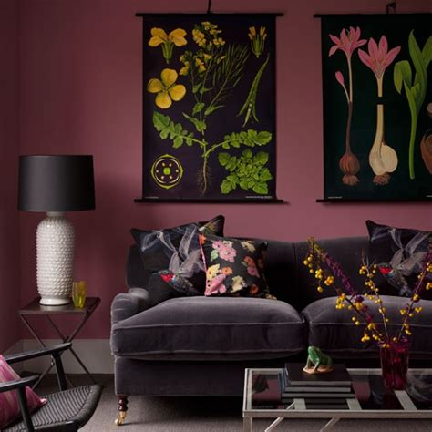 plum and gray living room cosy living room design ideas housetohome co uk
