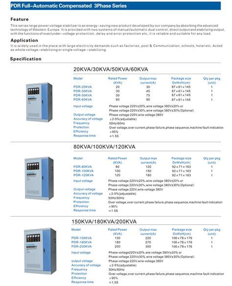 Stabilizer Arakawa Pdr 3 Phase Pdr 400kva arakawa voltage stabilizer pdr servo 3 phase pusat